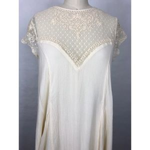 Anthropologie Dresses - Anthropologie Lucy Fried Ivory Lace Dress Sz S